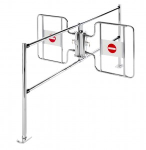 Double Rail Mounted Checkout Gate